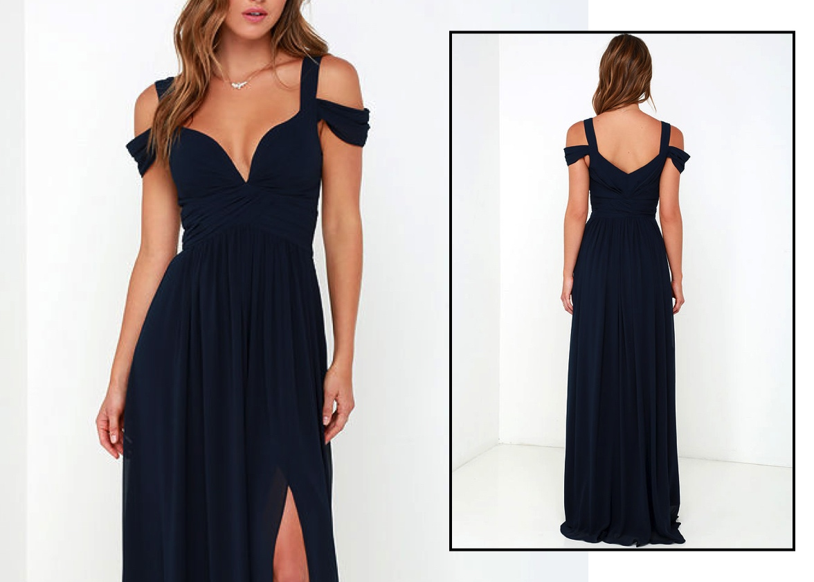 Off-Shoulder Evening Gowns